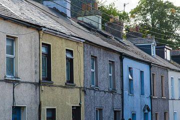 Gekleurde huizen in Cork, Ierland van