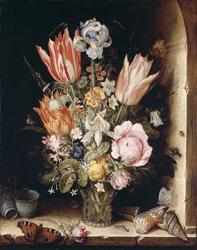 Stillleben mit Blumen in einer Vase, Christoffel van den Berghe von Meesterlijcke Meesters