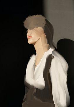portret in aardetinten van Carla Van Iersel
