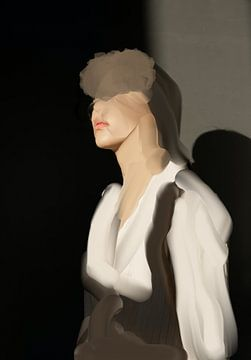 Porträt in erdigen Tönen von Carla Van Iersel