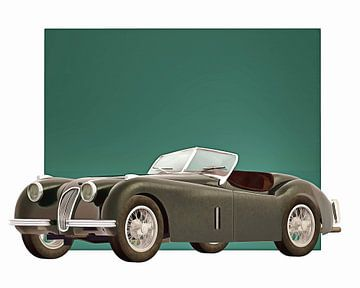 Klassieke auto – Oldtimer Jaguar XK120 1951 van Jan Keteleer