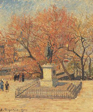Statue d'Henri IV et arbres à fleurs, Camille Pissarro sur