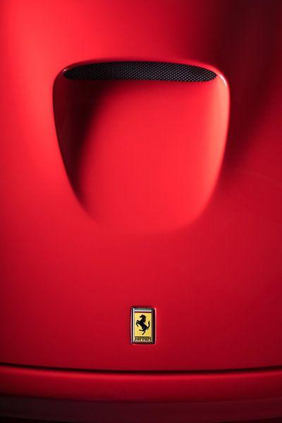 Detail of the hood of a Ferrari 550 Maranello sur Leoniek van der Vliet