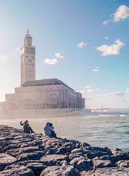 Hassan II-moskee in Casablanca van Sander Wesdijk