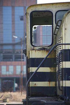 oude treinwagon van marijke servaes