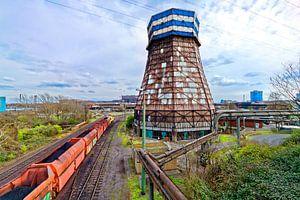 Industrieel landschap in Duisburg (7-10264) van Franz Walter