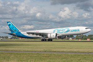 Een Airbus A330-900 (vliegtuig van de Airbusfabrieken zelf) heeft de wielen van het hoofdlandingsges