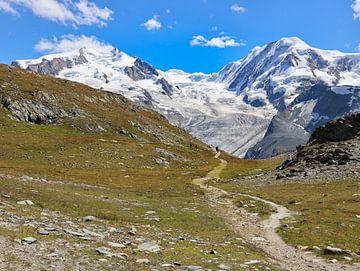 Monte Rosa gletsjer Zwitserland van Marieke Funke