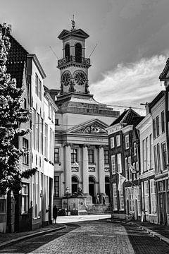 Stadhuis van Dordrecht Nederland Zwart-Wit van Hendrik-Jan Kornelis