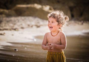 Kind aan het strand von Jellie van Althuis