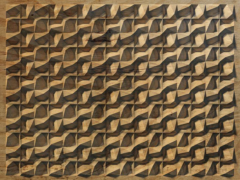 Reliëf 2016 d3 houtsnijwerk van frans blok op canvas behang en meer