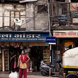 Straatbeeld Pune, India van Vincent van Kooten