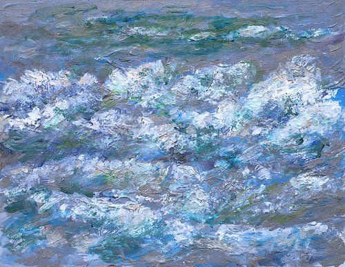 Branding van de Noordzee van Paul Nieuwendijk