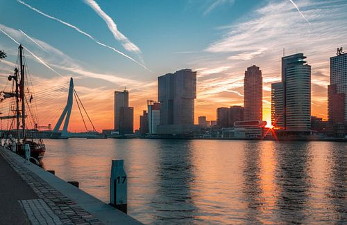 Rotterdamse Skyline van Arisca van 't Hof