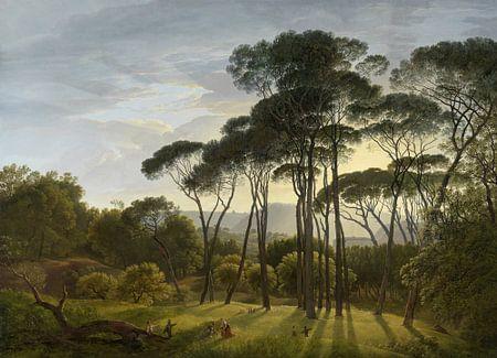 Italienische Landschaft mit Schirmpinien, Hendrik Voogd von Rebel Ontwerp