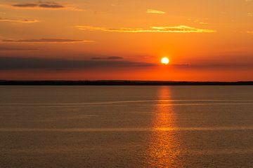 Sonnenuntergang an der Ostsee von Henk Hulshof