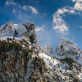 Schneiderspitze in Axamer Lizum Österreich von Martijn van der Nat