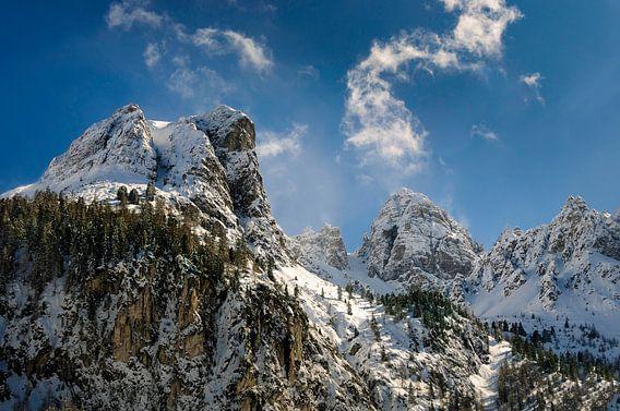 Schneiderspitze  in  Axamer Lizum Oostenrijk van Martijn van der Nat