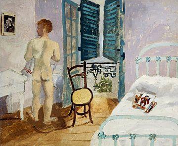 Christopher Wood~ Nackter Junge in einem Schlafzimmer