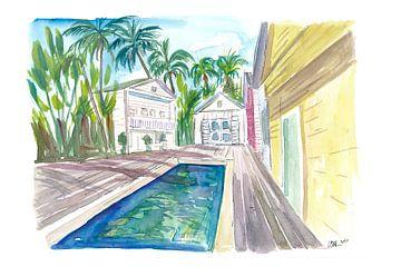 Yellow Conch Dreams in Key West met koel zwembad van Markus Bleichner