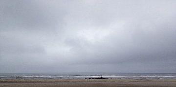 Zeezicht, Eenzaam in rust van Frans van Gruijthuijsen