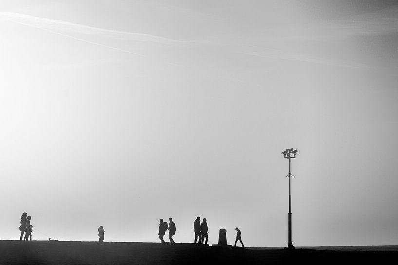 Mist op het Zeepad in Harderwijk. van Don Fonzarelli