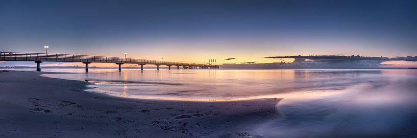Oostzee bij Scharbeutz in het zachte ochtendlicht van Voss Fine Art Fotografie