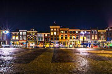 Delft | Markt bij nacht van