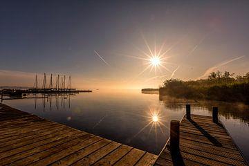 Lever de soleil au Leekstermeer sur Jacques Jullens