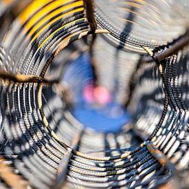 Wapeningsnet op een zonnige dag van Frans Blok