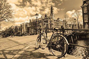 Südliche Kirche Amsterdam Winter Sepia von Hendrik-Jan Kornelis