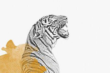 Tiger Poster von Felix Brönnimann