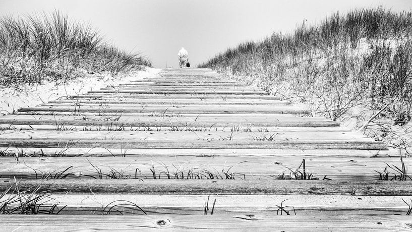To the beach (B&W) van Lex Schulte