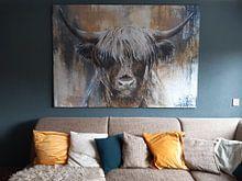 Kundenfoto: Hochlandkuh I von Atelier Paint-Ing, auf leinwand