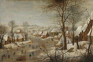 Winterlandschap met vogelval, Pieter Brueghel de Jonge