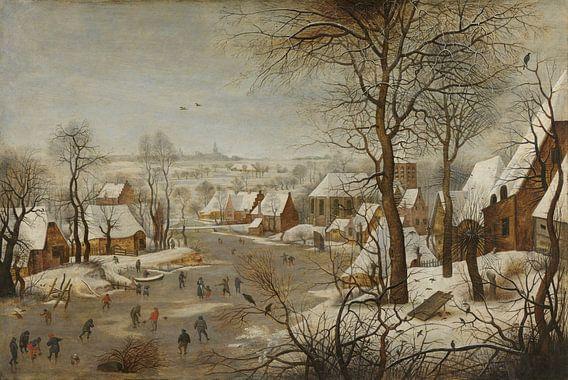 Winterlandschap met vogelval, Pieter Brueghel de Jonge van Meesterlijcke Meesters