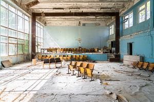 Gym dans une école abandonnée.