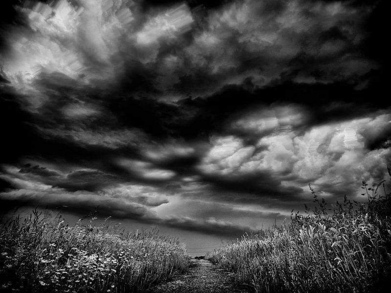 Calm before the storm B&W van Lex Schulte