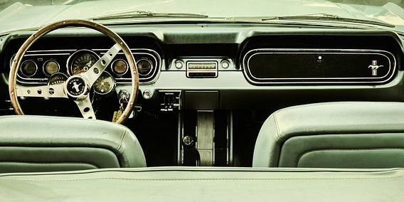 De vintage Ford Mustang van Martin Bergsma