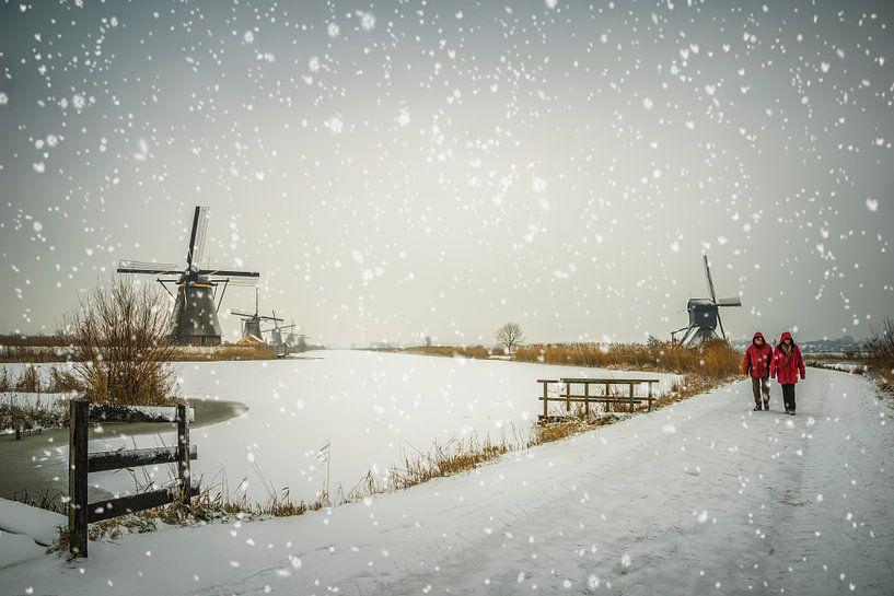 Snow is falling van Jan Koppelaar