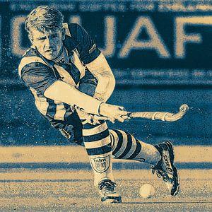 Fieldhockey player in action von Frank van der Leer