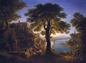 Kasteel aan de rivier, Karl Friedrich Schinkel