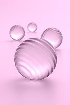 Ballen met groeven roze van Jörg Hausmann