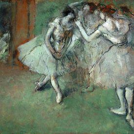 Edgar Degas. A Group of Dancers van 1000 Schilderijen