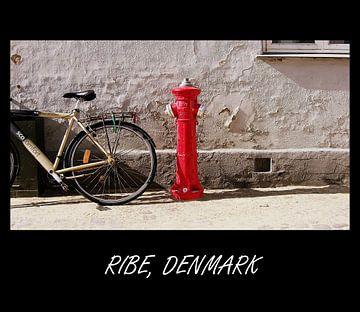 Brandkraan in Ribe, Denemarken