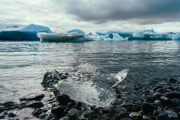 Gletsjer-lagune in IJsland van Shanti Hesse