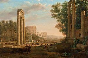 Claude Lorrain. Capriccio met ruïnes van het Romeinse Forum