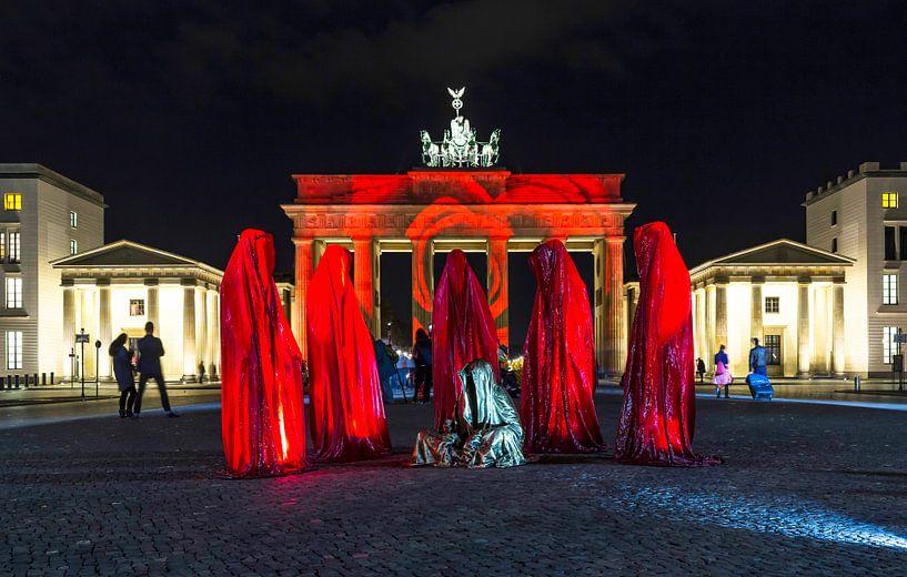 Brandenburger Tor Berlin in een bijzonder licht van Frank Herrmann
