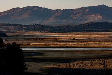 Zonsopgang Yellowstone van Stefan Verheij