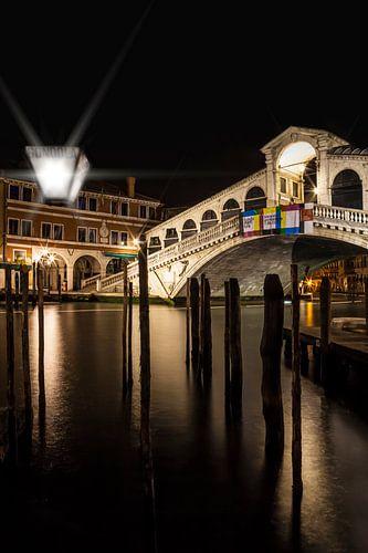 VENICE Rialto Bridge at Night